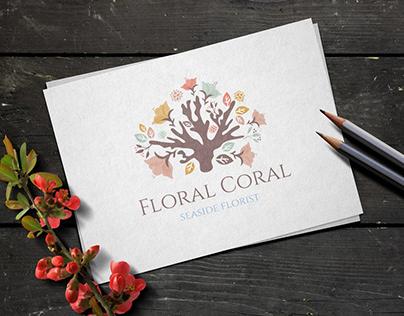 Floral Coral Logo Design