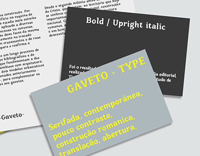 Gaveto — Typeface