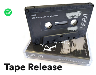 Tape release design for SoundCloud, Spotify, Bandcamp