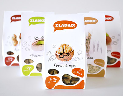 Package for nuts and cereals «ZLADKO!»