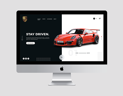 Porsche Header UI Design Concept | Rish Designs