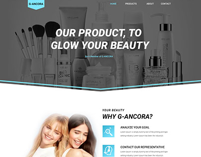 Beauty Product Selling Website for Client