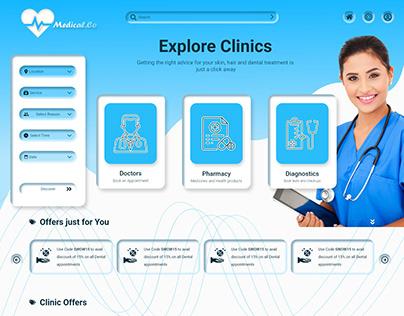 Medical.Co-UI/UX Design for Medical Services Online.