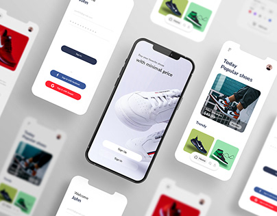 Shoe Store app Ui concept