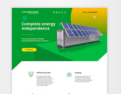 Landing pages for Off-Grid Europe