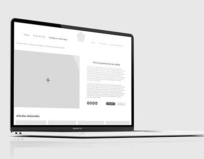 Diseño de blog empresarial