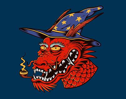 Wizard smoking Dragon