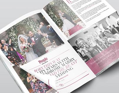 Magazine Editorial Mock-Up: Born This Way Wedding