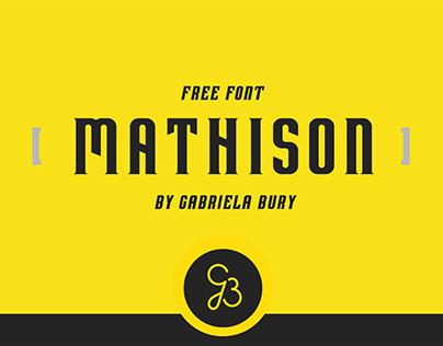 Free Mathison Display Font