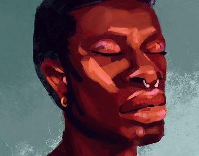 Digital Portrait Illustrations and GIFs