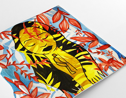 African Folklore Editorial Illustration