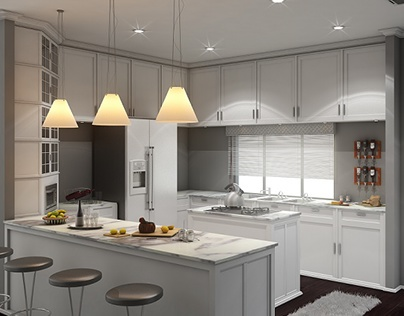 Cherry's Kitchen Interior Rendering