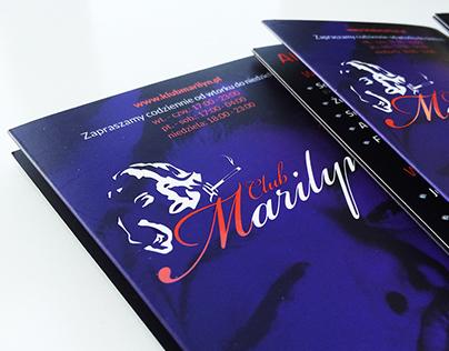 Marilyn Club - Menu Card