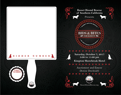 Bids & Bites for Bassets Event Collateral - 2017