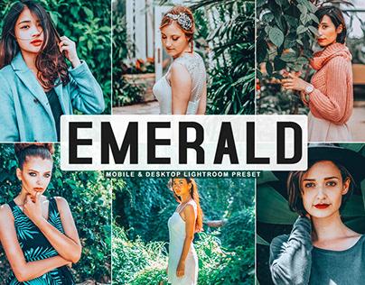 Free Emerald Mobile & Desktop Lightroom Preset