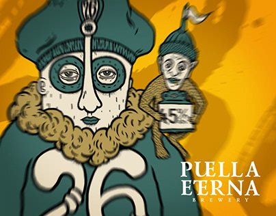 Beer label «26 Pale Ale» for Puella Eterna brewery