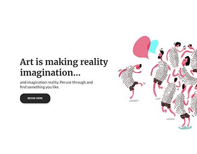Art Website UI design