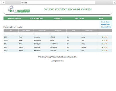 WebApp for student record system Use.az
