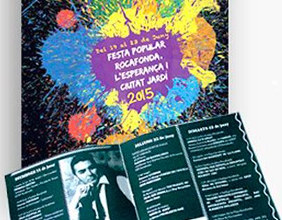 Cartel y programa de la fiesta popular Rocafonda