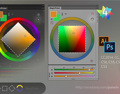 Tips&Tricks 4 for MagicPicker color wheel, other panels