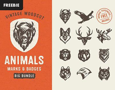 Savage Animals Vector Bundle