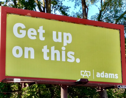 ADVERTISING CAMPAIGN: Adams self-promotional