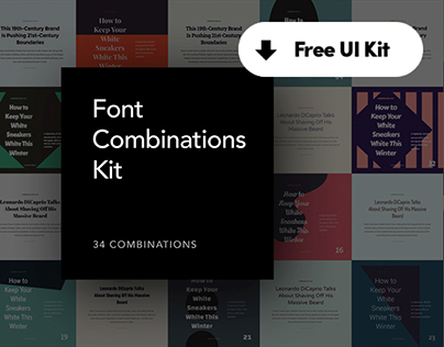 Font Combinations Kit - Freebie