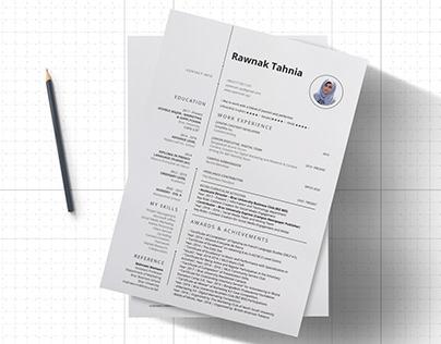Resume design for NGO