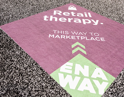 ENA Way Directional Floor Clings