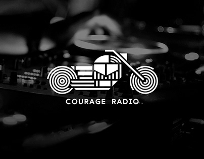 COURAGE RADIO identity for radio station