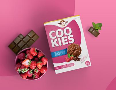Candy Fit Cookies -Design de Embalagem