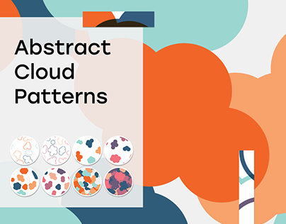 Abstract Cloud Seamless Patterns