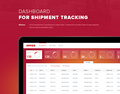 Dashboard for shipment tracking