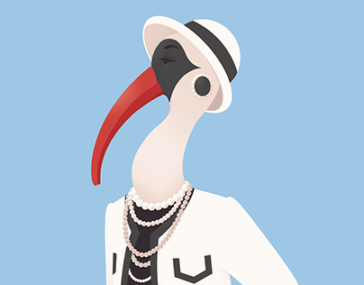 Animal Fashion | I is for Ibis in Iconic Chanel outfit