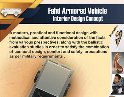Fahd Armored Vehicle Interior Design Concept