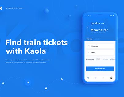 Kaola iOS App Train tickets booking