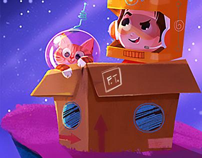 Star games: digital illustration