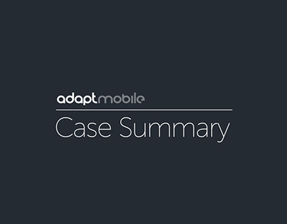 Adaptmobile Case Summary