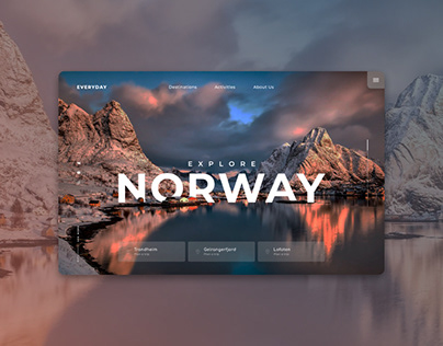 Вдохновение веб-дизайн. Открой для себя красоту NORWAY