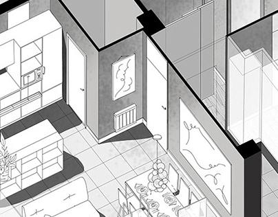 Interior design - graphic presentation