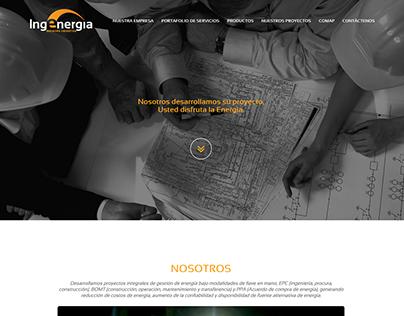 Diseño y desarrollo Web - Ingenergía