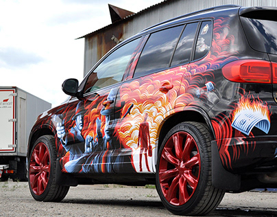 Illustrations for Tiguan vinyl wrapping