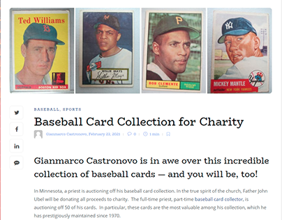 Baseball Card Collection for Charity