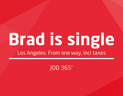 Brad is single - Travel to... AirArabia fictional Ad