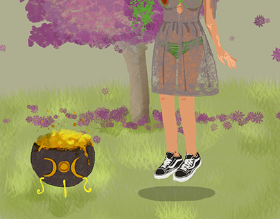 Spring Witch Concept