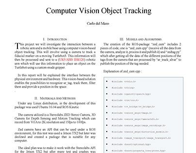 Computer Vision Object Tracking