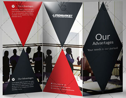 Corporate – Free Tri-Fold Brochure PSD Template