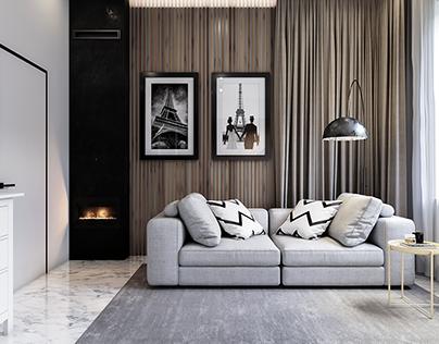 Interior design 115 sq.m. Lviv, Ukraine.