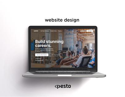 Website Design : Pesto Tech