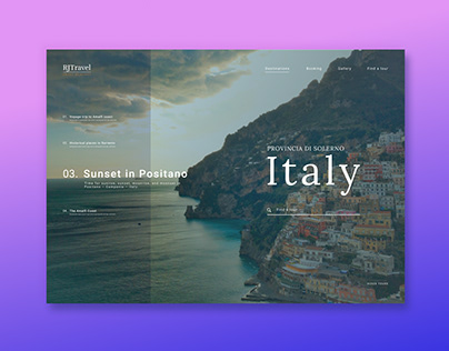 Travel to Italy landing page